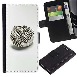 Billetera de Cuero Caso Titular de la tarjeta Carcasa Funda para Sony Xperia Z1 Compact D5503 / Architecture Design Abstract Minimalist / STRONG