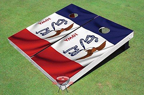 アイオワ州揺れる旗テーマCorn穴ボードCornhole Game Set   B00TJ05B06