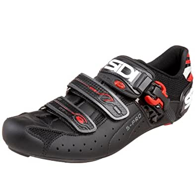 SIDI Genius 5 Pro Carbon Cycling Shoe,Black/Black,44.5 M EU (US Men's 10.25 M)