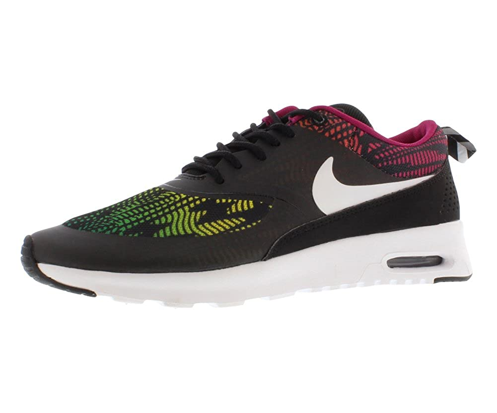 sale retailer bf8e3 74d22 Amazon.com   NIKE Air Max Thea Print Women s Running Shoes Size US 5,  Regular Width, Color Black Multicolor   Road Running