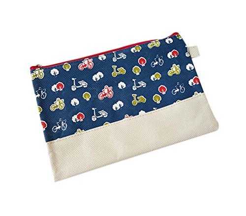 2Pcs Creative Zipper Paper Collecting Bag File Bag Student Stationery Supplies