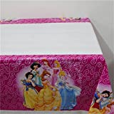 Disney Princess Set of 2 Tablecloths Plastic 42'' X 70'' Sleeping Beauty Cinderella Snow White and More Disney Princess Girls Birthday Party Decoration Essentials by CharmTM