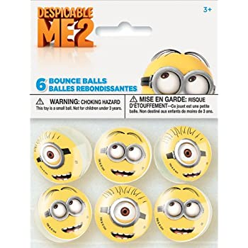 Despicable Me Minions Bouncy Ball Party Favors, 6ct