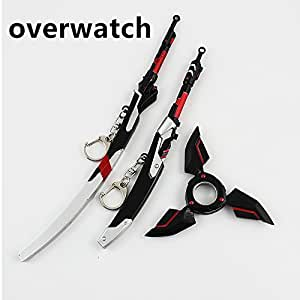 Overwatch genji's toys key chain set of 3 Halloween ,birthday Gifts For Children Kids Collection
