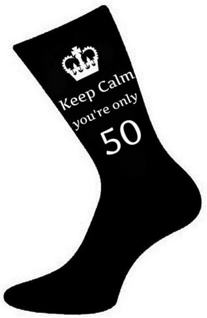 Vintage 1969 Black Cotton Rich Birthday Novelty Socks