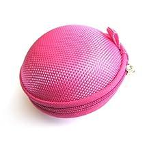 Hot Pink Case for Plantronics Backbeat Go , Marque 2 M165 , Marque M155 , M55 M50 M28 M25 M24 M20 , Savor M1100 , M100 MX100 , Discovery 975 925 Wireless Bluetooth Headset M-165 M-155 M-55 M-50 M-28 M-25 M-24 M-20 M-1100 M-100 MX-100 Bag Holder Pouch Hold Box Pocket Size Hard Hold Protection - Protect Save Earhooks Ear Hook Ear Loop Ear Bud Ear Gel Eargel