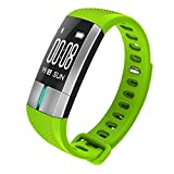 CZRDR G20 Smartwatch Bluetooth Blood Pressure ECG Date Heart Rate Monitor Wristband Call SMS for Android IOS (Green)
