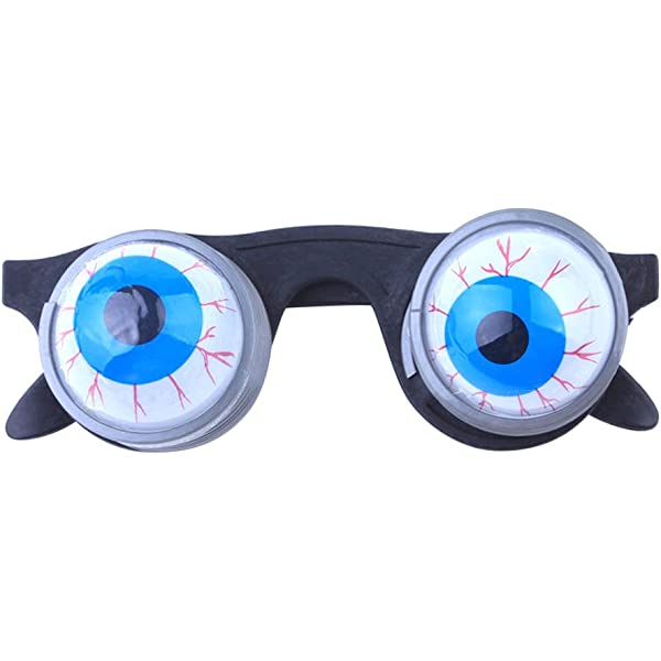 Amosfun Funny Disguise Glasses Goo Goo Eye Glasses Spring Eyeball Glasses for Halloween Costume Party
