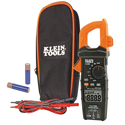 (Digital Clamp Meter AC/DC Auto-Ranging 600 Amp Measures Voltage, Resistance, More Klein Tools CL600)