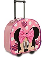 Disney Store Minnie Mouse Rolling Luggage/Carry-On Suitcase (Pink)