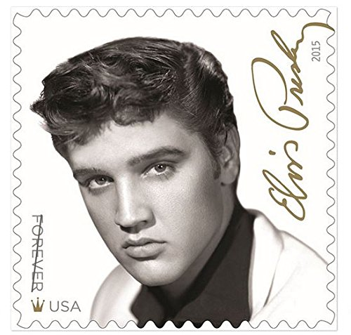 Sheet Of 16 Elvis Presley Forever Stamps From The U S  Postal Service  2015 New Release