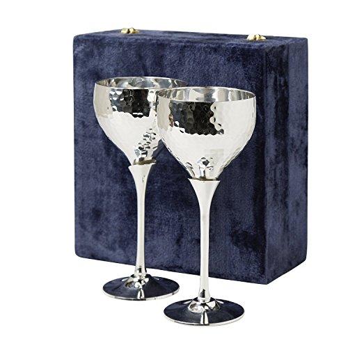 Set Of Two Silver-Plated Goblets With Velvet Box 'Celebration Goblets'