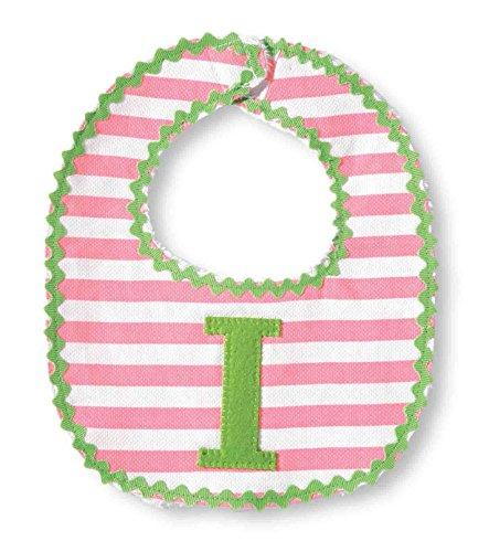Mud Pie Baby-Girls Newborn I Girl Initial Bib, Pink, One Size (Baby Bib Initial)