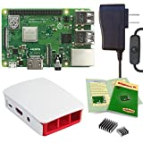 Viaboot Raspberry Pi 3 B+ Power Kit — UL Listed 2.5A Power Supply, Official Raspberry Pi Foundation Red/White Case Edition