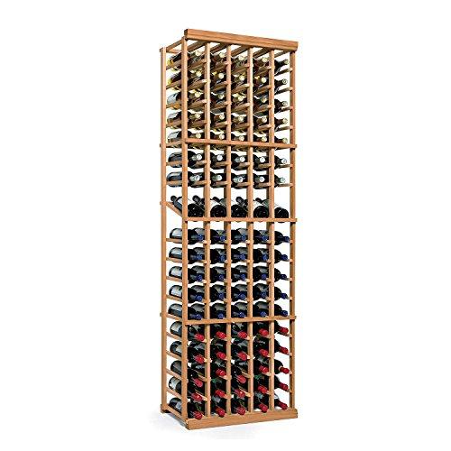 - N'FINITY Wine Rack Kit - 5 Column with Display - Natural Finish - Solid Mahogany