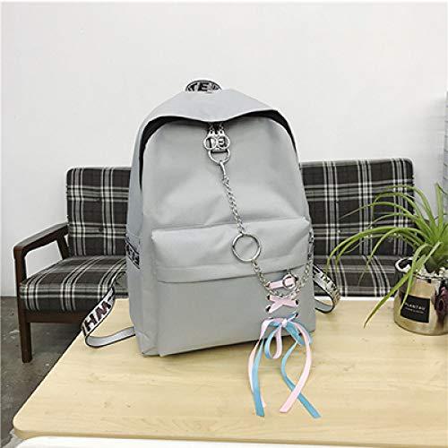 Ragazze Travel Women's per Borse Shuangjian rosa Canvas Grey scuola Teenager Zaini Borse Zaino Shoulder nero Fashion da 64pYwYHq