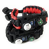 You have found the Ultimate Survival Paracord Bracelet! This bracelet is made up of a 550 grade Paracord string which means it can withstand a lot of weight! This fully adjustable Paracord Bracelet is one size fit all so no need to worry about multip...