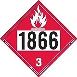 Labelmaster ZT2-1866 UN 1866 Flammable Liquid Hazmat Placard, Tagboard (Pack of 25)