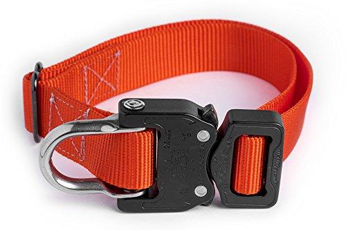 Klik Belts Tactical Nylon Dog Collar w/Cobra Quick Release Buckle-Heavy Duty (L) ()