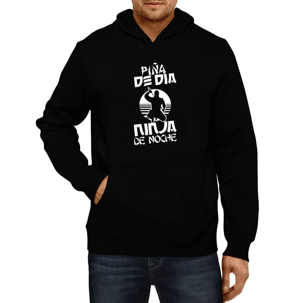 Amazon.com: Idakoos - Piña De Día Ninja De Noche - Hoodie ...