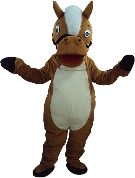 DREAM--STORE Caballo marrón Mascota Disfraz para Halloween Vestido ...