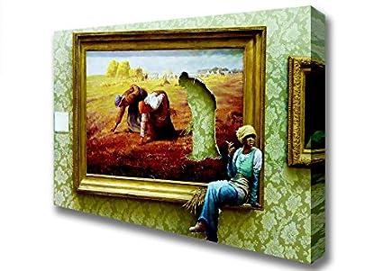Banksy tomar un descanso Lienzo Art Prints, Small 14 x 20 ...
