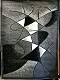 Modern Abstract Area Rug Grey Design #GL24 (8ft.x10ft.)