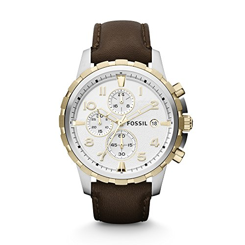 Fossil FS4788 Dean Chronograph Leather Watch - Brown ()