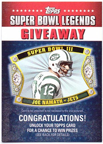 Joe Namath 2011 Topps Super Bowl Legends Giveaway #SBLG-1 - New York Jets