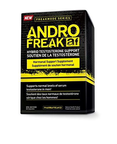 PHARMAFREAK Andro Freak - 60 Capsules - Hybrid Testosterone Support - L-Theanine - Resveratrol & Vitamins