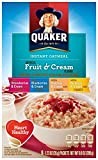 Quaker Instant Oatmeal Fruit and Cream Variety Pack, Breakfast Cereal,1.23 Ounce, 8 Count (Pack of 12 )