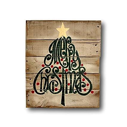rustic wood christmas sign merry christmas decoration christmas tree sign holiday decor - Rustic Wood Christmas Tree