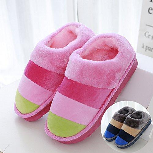 Permeabili Donne 39 Pantofole Morbido Per Gli Dentro Urti Rosa Assorbimento Grigio Laxba Degli Inverno Blu Di Camera Uomini 38 Da Letto dIqXwYIRxv