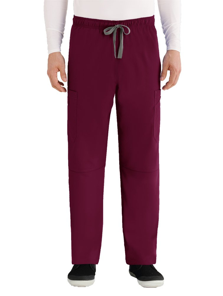 Grey's Anatomy Men's Size Modern Fit Cargo Scrub Pant, Teal, Medium Tall by Barco