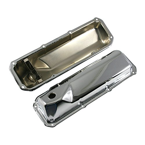 Assault Racing Products A9295 for Ford Cleveland Small Block Chrome Stock Style Valve Covers 351C 351M 400M