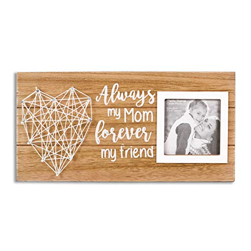 VILIGHT Mom Picture Frame Gifts for Mothers Day and Birthday from Daughter and Son - Always My Mom Forever My Friend for 3 Inches Photo