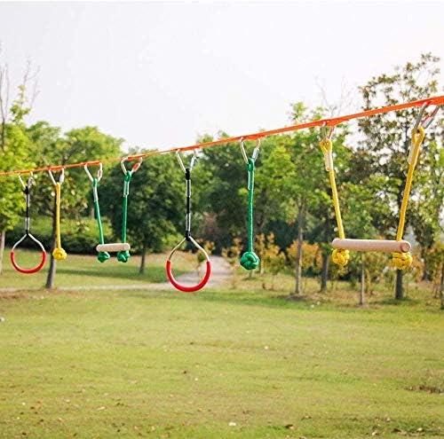 Ninja Slackline Monkey Bar Kit Outdoor Tree Hanging Obstacles Line Accessoires Speelset voor kinderen