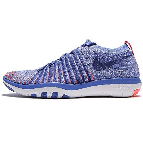 Nike Frauen Free Transform Flyknit Trainingsschuhe Mittelblau / Concord-Lava Glow