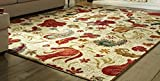 Mohawk Home Strata Tropical Acres Paisley Floral Printed Area Rug, 7'6 x 10', Tan