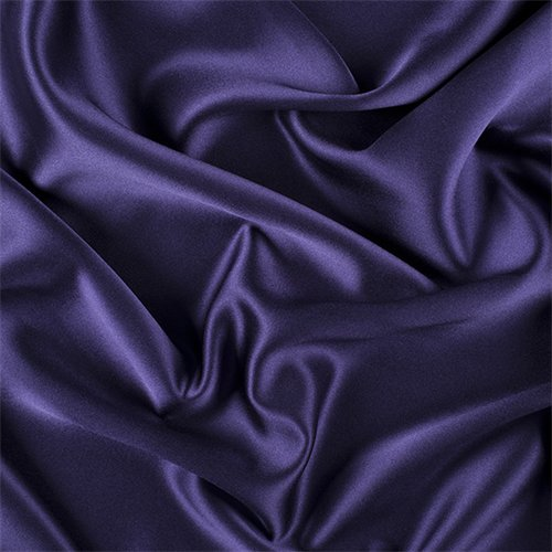 Dark Purple Silk Crepe Back Satin, Fabric By the Yard ()