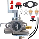 Yooppa AV520 Carburetor Kit for Tecumseh Jiffy Ice Auger Model 30 and 31 Replace 3hp 640290 640263 631720A 631720B TV085XA 2-Cycle Vertical Engine Strike Master Carburetor