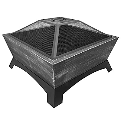 CobraCo FT-010B Steel Age Fire Pit - Provide long-lasting fires. With its huge fire tub, you can load more firewood at one time. Remain stable. This fire pit won't tip when full of firewood. Burn wood evenly. Its built-in air risers pull oxygen to the center of the fire tub. - patio, outdoor-decor, fire-pits-outdoor-fireplaces - 513HHn%2B8LEL. SS400  -