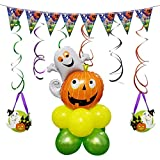 Halloween Outdoor Decorations Animated Pumpkin Ghost Inflatable Balloon Column Stand Kit