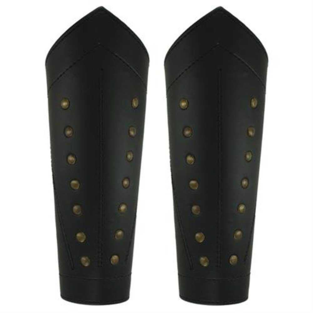 Reproduction Ranger's Sable Studded Leather Greaves