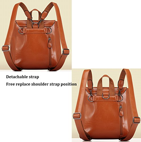 À Cm Les Multifonctionnel Sac Color Filles pour Style Véritable Femmes Sac MIMI À Burgundy Vintage 12 35 Main Cuir Doux Capacité KING Grande Pure en Dos 30 College Simple 1wqUap5q