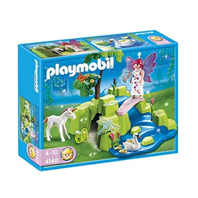 Playmobil 4148 Fairy Garden with Unicorn Compact Set: Toys & Games