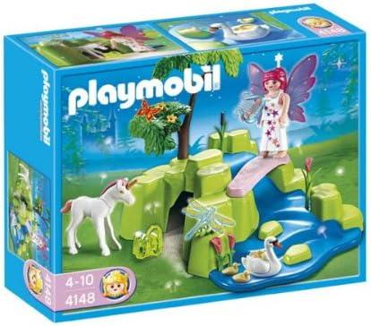 Amazon.com: Playmobil 4148 Jardín de hadas con unicornio ...