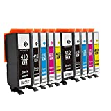 Tyjtryjty 10 Pack Compatible Ink Cartridge Replacement for Epson 410XL 410 XL T410XL020 (2 Black, 2 Photo Black, 2 Cyan, 2 Magenta, 2 Yellow) for Epson Expression XP-830 XP-630 XP-530 XP-635 XP-640