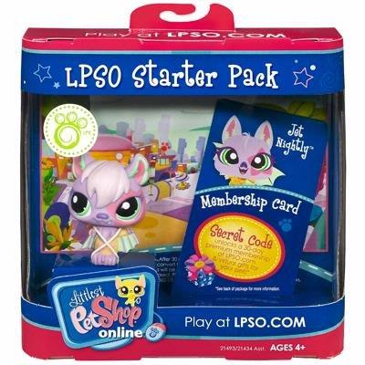 Hasbro Littlest Pet Shop Online LPSO Starter Pack Jet Nightly Figure [Bat] (Littlest Pet Shop Starter Pack)