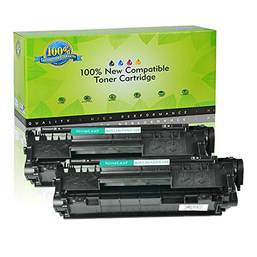 NineLeaf Compatible Toner Cartridge Replacement for HP 12A Q2612X Super High Yield, 2 Black, Work with Laserjet 1020 1012 1018 1022 3050 3015 3055 Laser Printer (~3000 Pages)